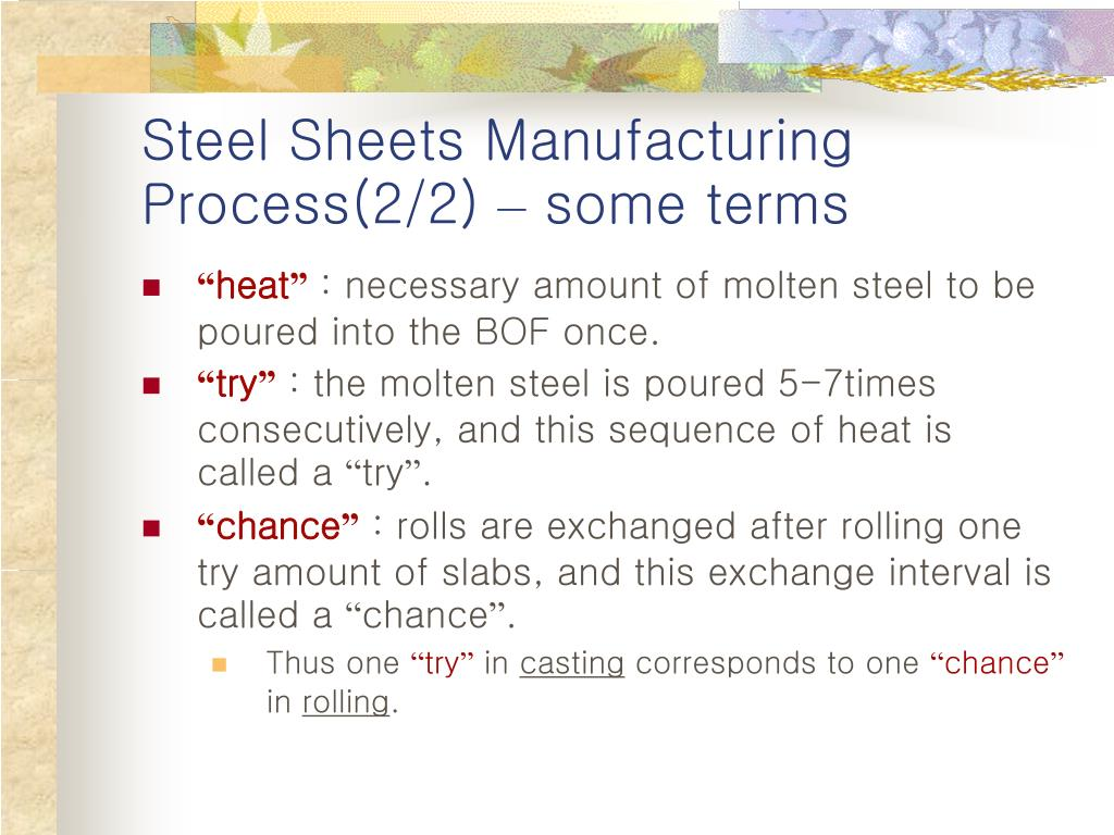 Steel Sheets Manufacturing Process(2/2)