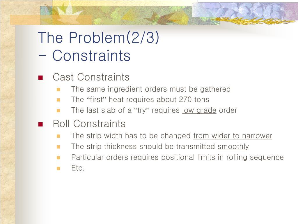 The Problem(2/3)