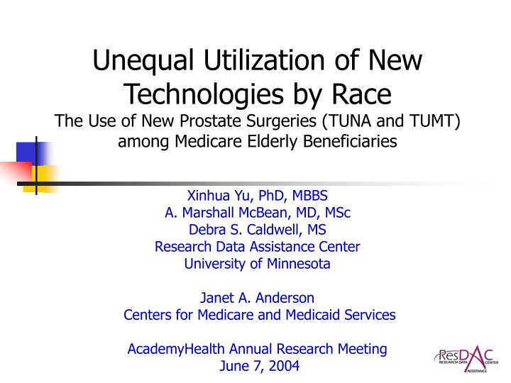 Unequal Utilization of New Technologies by Race