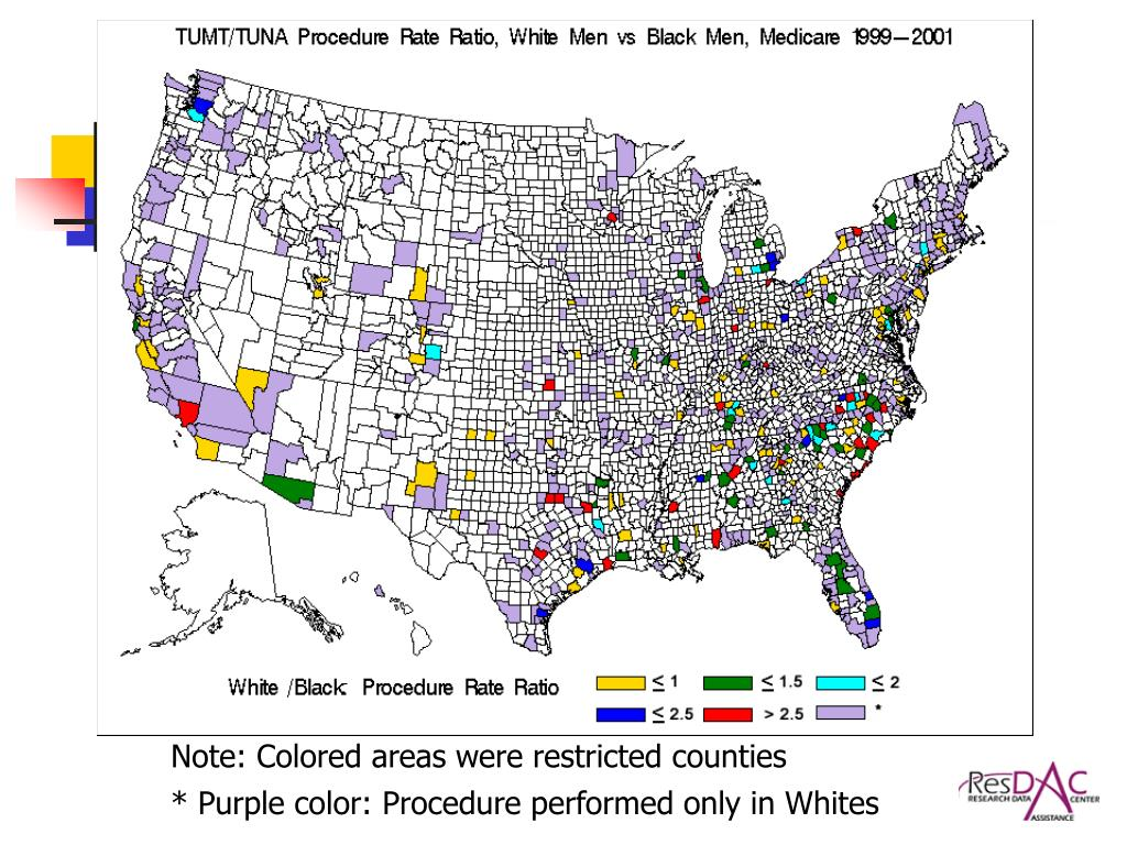 Note: Colored areas were restricted counties