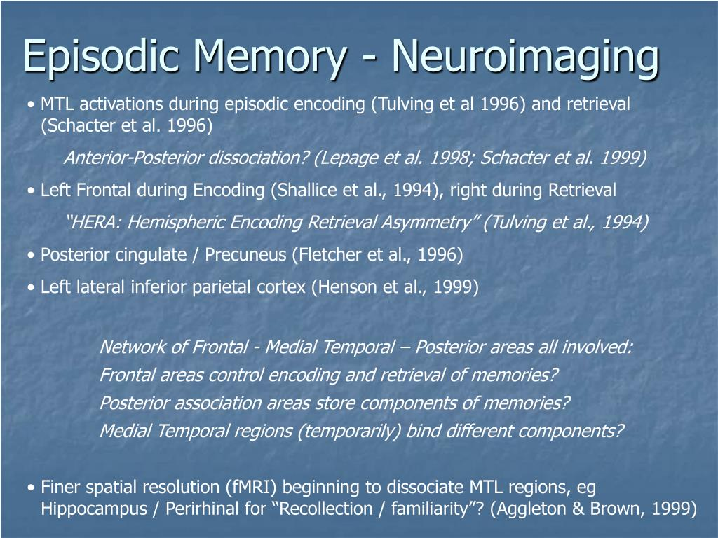 Episodic Memory - Neuroimaging