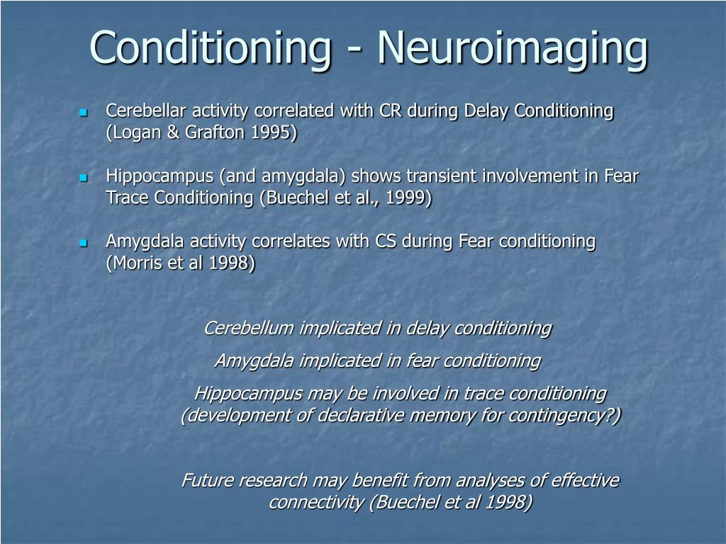 Conditioning - Neuroimaging