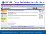 patient safety indicators on the infonet