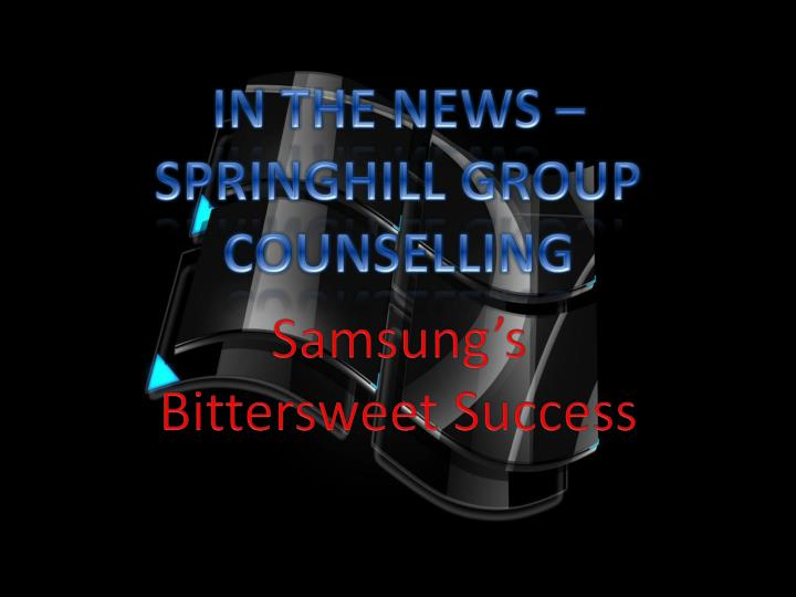 In the news springhill group counselling