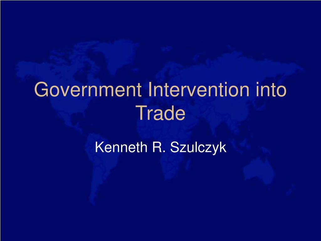 government intervention into trade