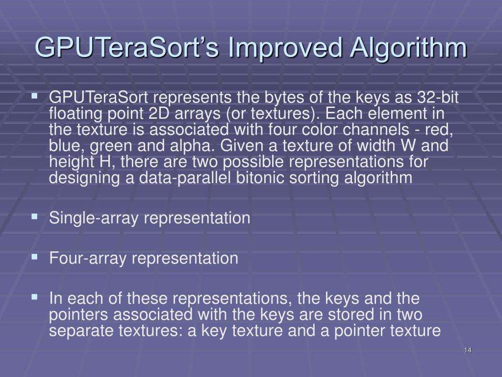 GPUTeraSort's Improved Algorithm