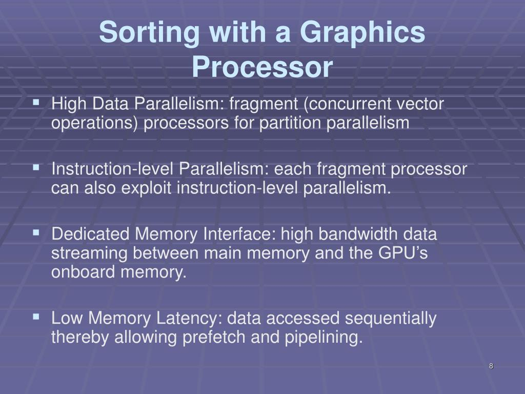 Sorting with a Graphics Processor