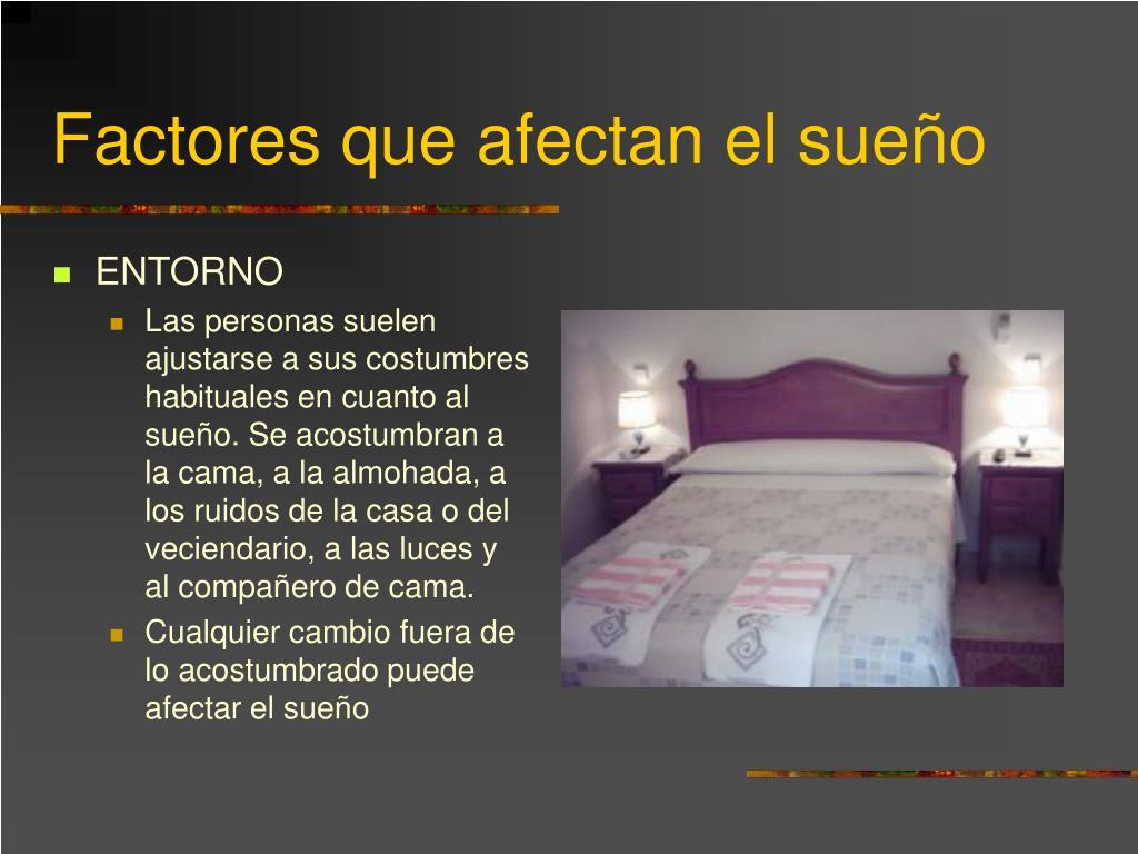 Factores que afectan el sueño
