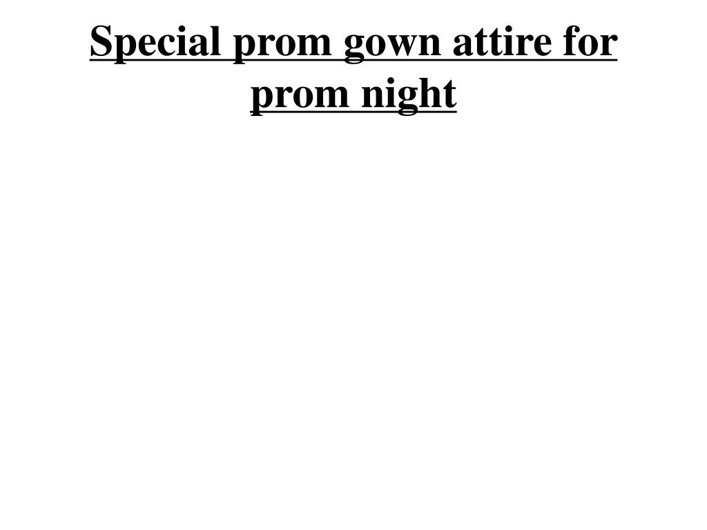 special prom gown attire for prom night l.