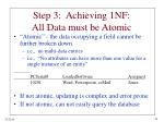 step 3 achieving 1nf all data must be atomic