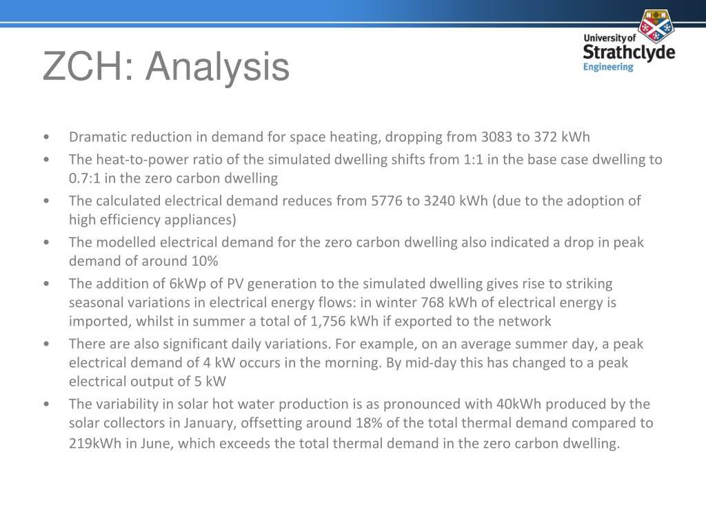 ZCH: Analysis