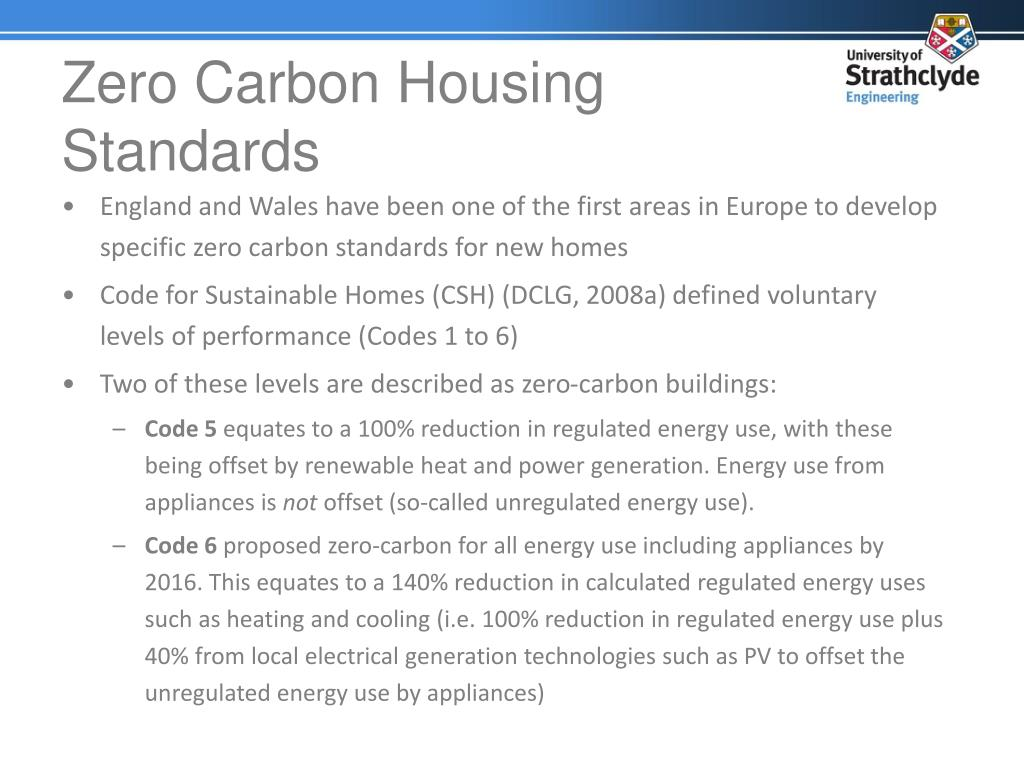 Zero Carbon Housing