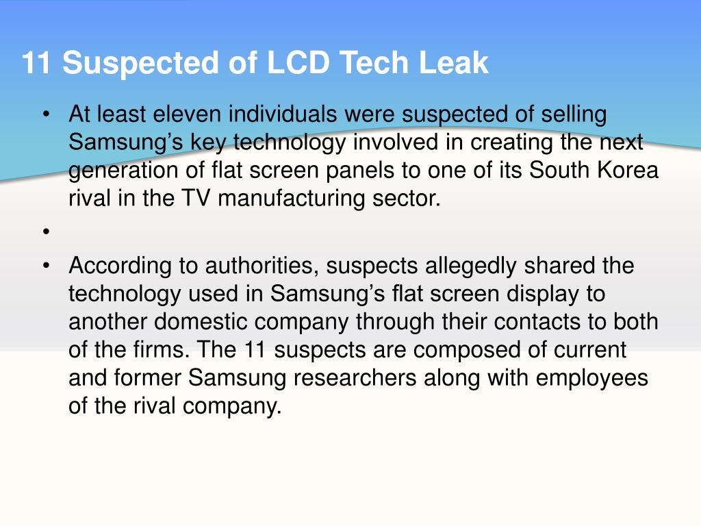 11 Suspected of LCD Tech Leak