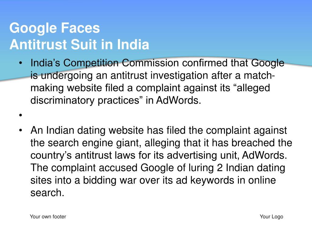Google Faces Antitrust Suit in India