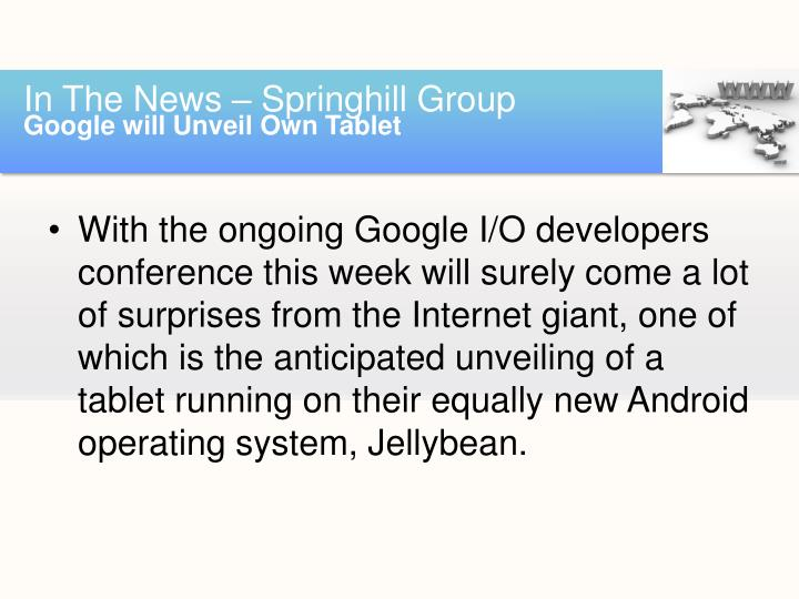In the news springhill group