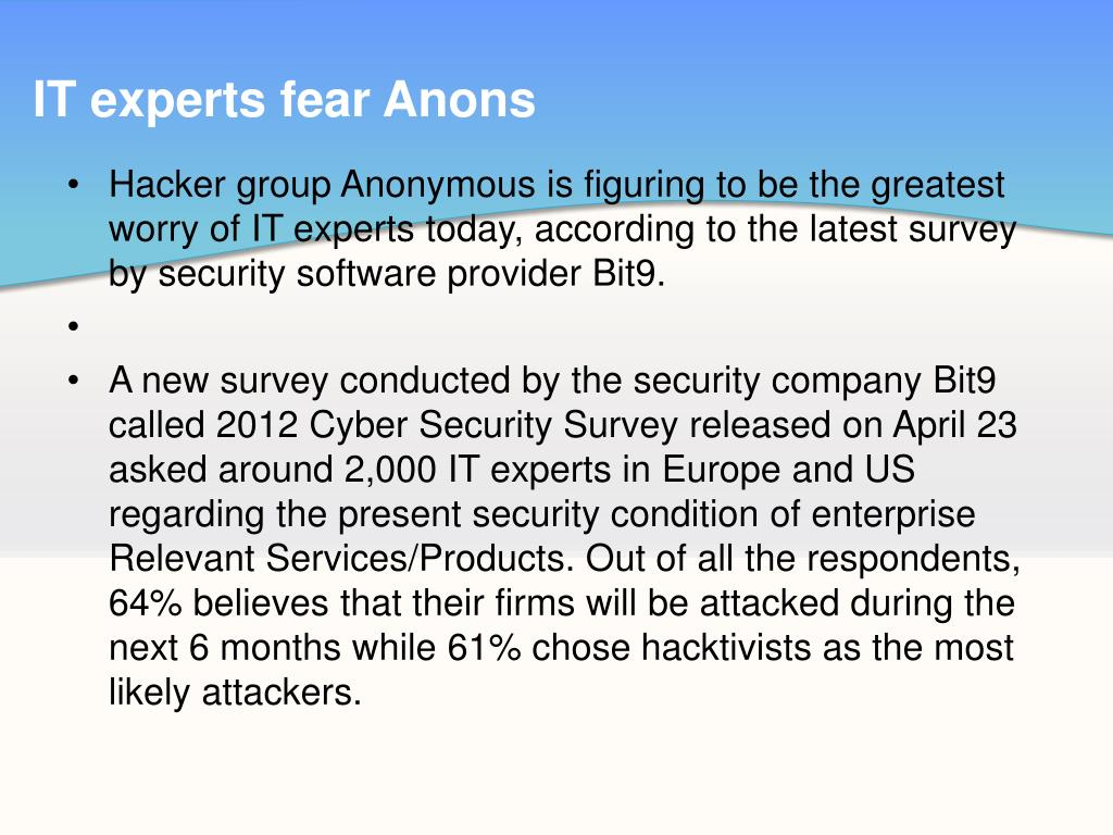 IT experts fear