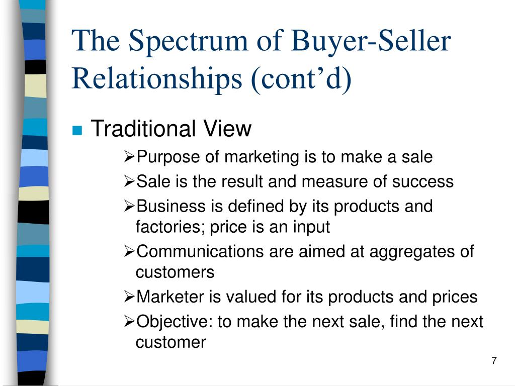 The Spectrum of Buyer-Seller Relationships (cont'd)