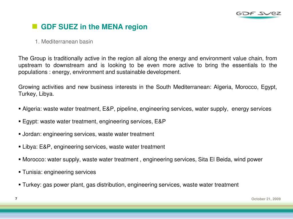 GDF SUEZ in the MENA region