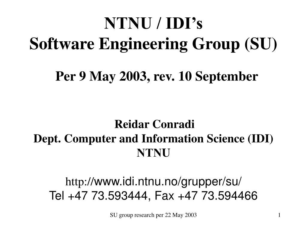 NTNU / IDI's