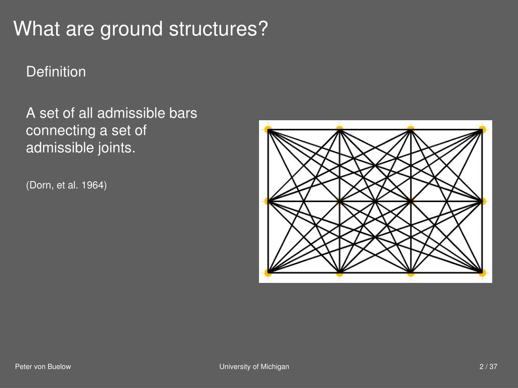 What are ground structures?