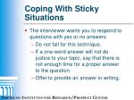 coping with sticky situations6