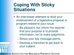 coping with sticky situations7