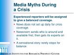 media myths during a crisis