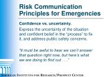 risk communication principles for emergencies2