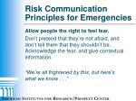 risk communication principles for emergencies4