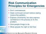 risk communication principles for emergencies6