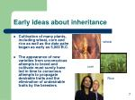 early ideas about inheritance7