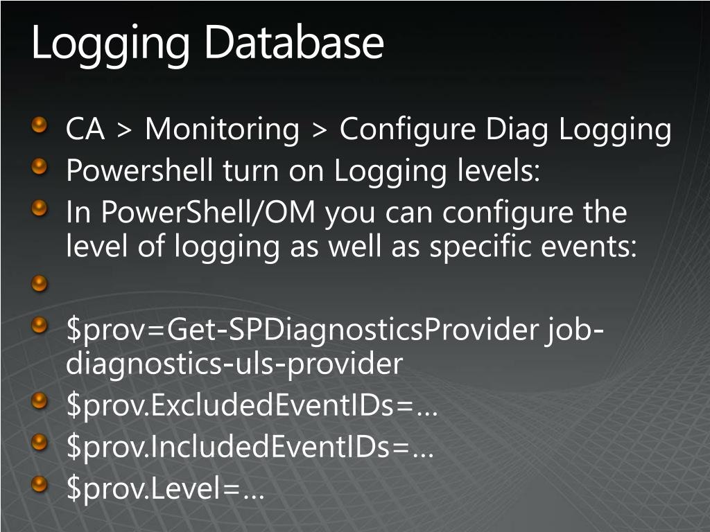 Logging Database