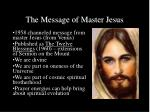 the message of master jesus