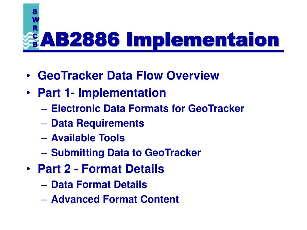 AB2886 Implementaion