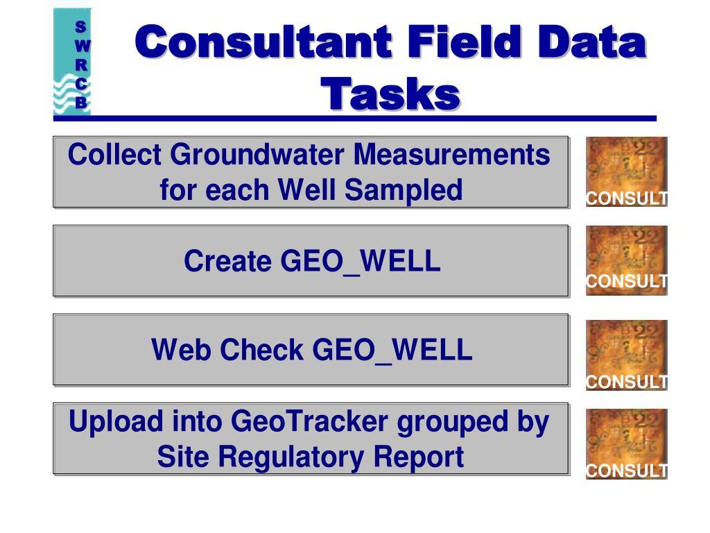 Consultant Field Data Tasks