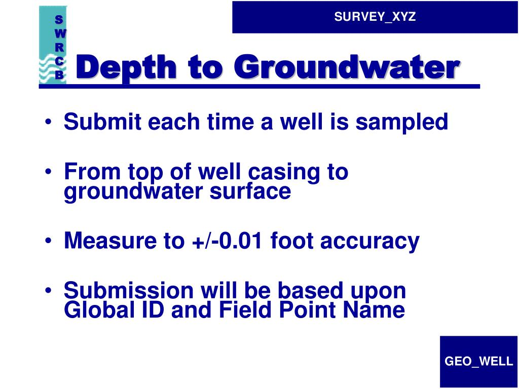 Depth to Groundwater