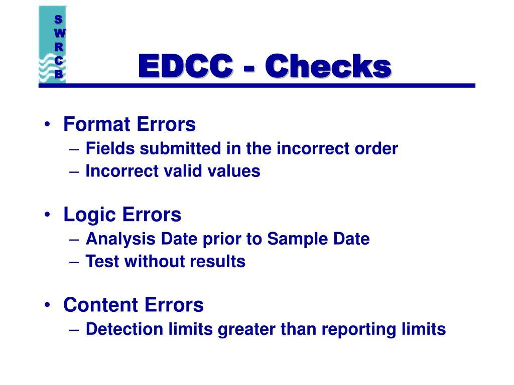 EDCC - Checks