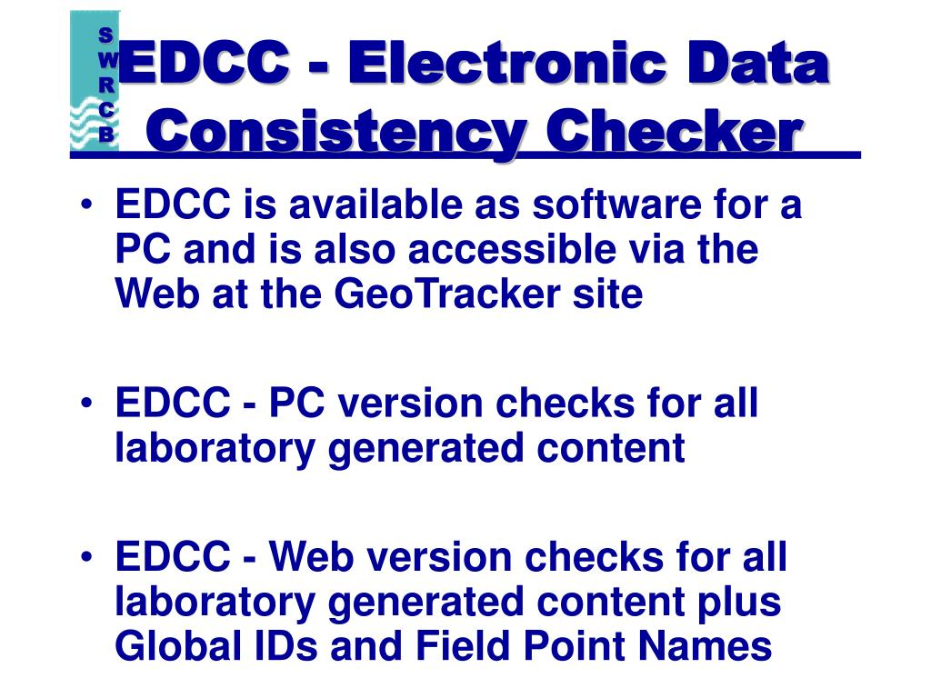 EDCC - Electronic Data Consistency Checker