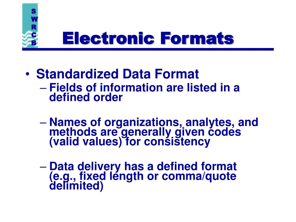 Electronic Formats