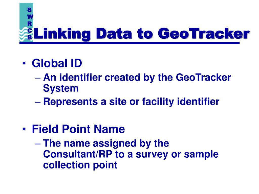 Linking Data to GeoTracker