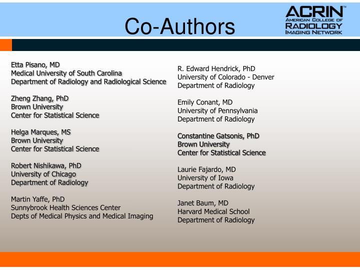 Co authors