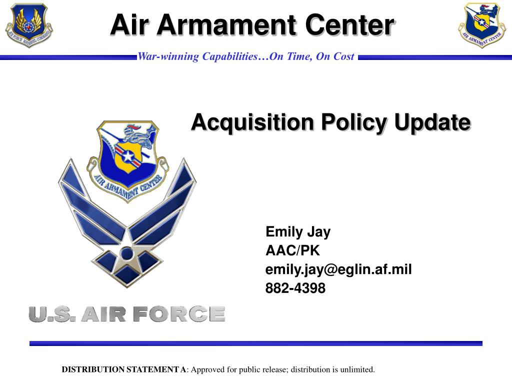 acquisition policy update l.