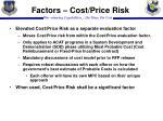 factors cost price risk