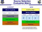 source selection evaluation matrix