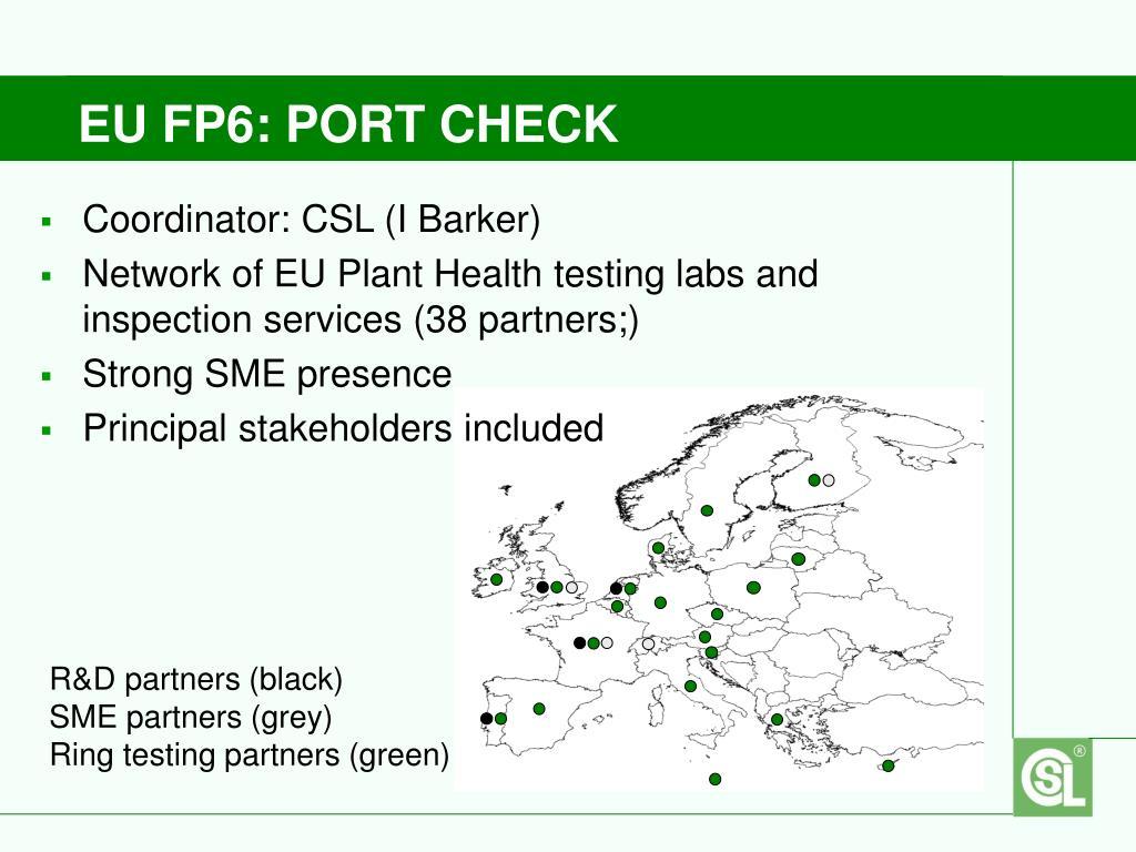 EU FP6: PORT CHECK