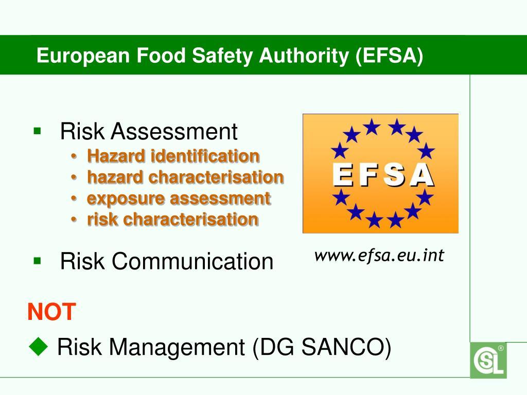 European Food Safety Authority (EFSA)