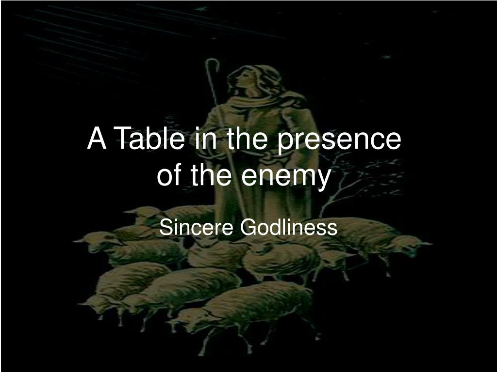 a table in the presence of the enemy l.