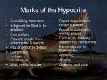 marks of the hypocrite