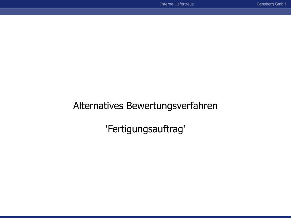Alternatives Bewertungsverfahren