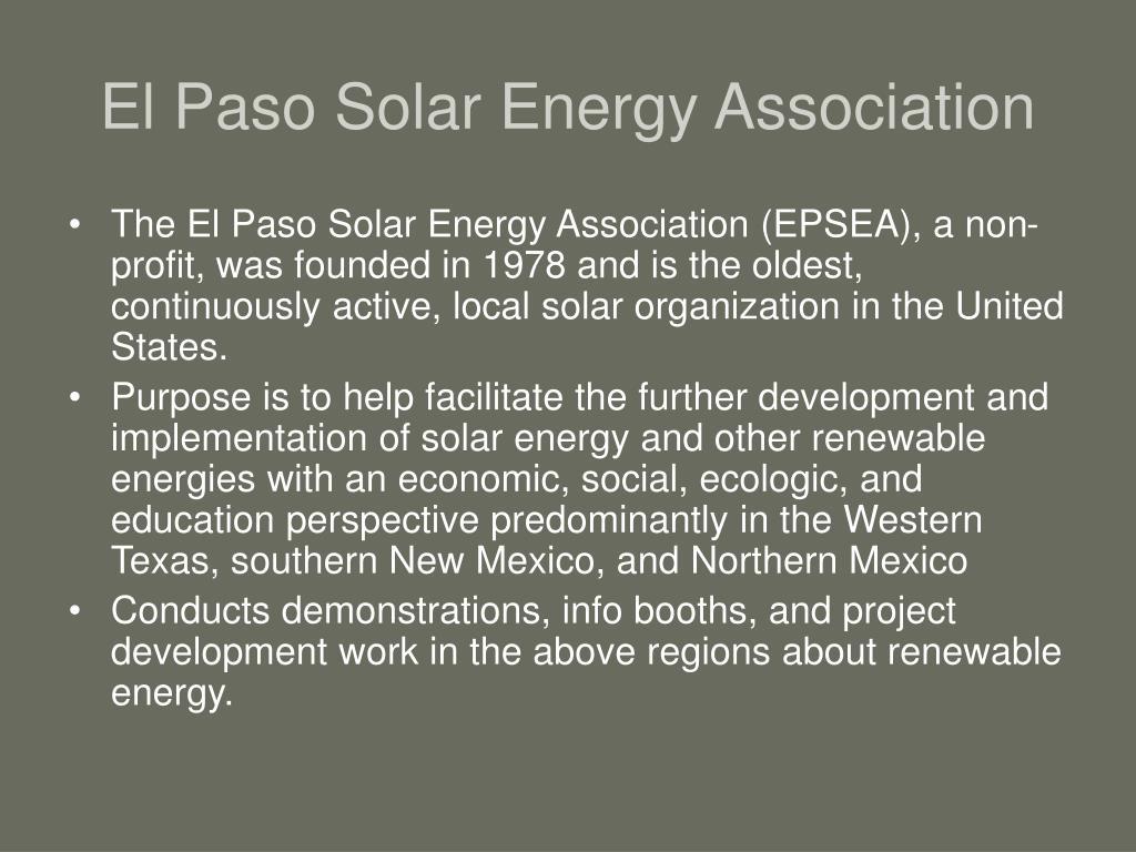 El Paso Solar Energy Association